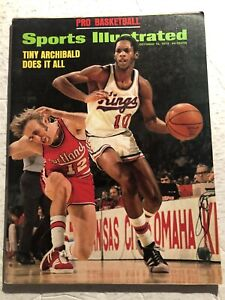 1973 Sports Illustrated KANSAS CITY Kings TINY ARCHIBALD ABA NBA Prev NO LABEL