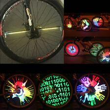Programmable RGB 128 LED DIY Bike Cycling Bicycle Wheel Tire Spoke Light Rainbow