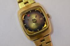 Le Locle Zodiac Astrographic Automatik Vintage Uhr vergoldet Mystery