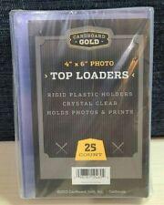 (25) 4x6 Photo Top Loaders - Cardboard Gold (CBG) - Hard Rigid Top Loaders Photo