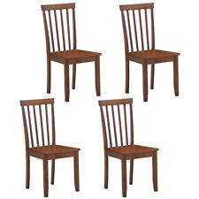 Set of 4 Dining Chairs Kitchen Spindle Back Side Chair w/Solid Wooden Legs Home