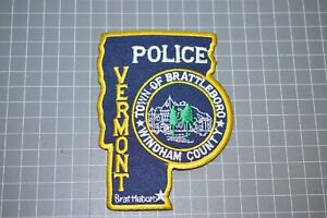 Town Of Brattleboro Vermont Police Patch (B17-A7)