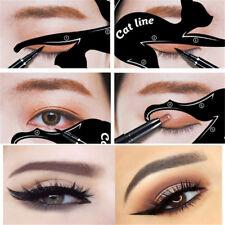 2x New Cat Line Eye Makeup Eyeliner Stencils Templates Makeup Tools Kits For Eye