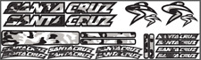 Santa Cruz Vinyl Die Cut Replacement Decals Stickers Bike Frame Kit Cycling Mtb