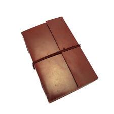 Fair Trade Handmade Eco XXL Plain Leather Journal Notebook Diary 2nd Quality