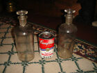 Antique Whitall Tatum Glass Medicine Chemistry Bottles-Pair-WT Co. USA-Stopper