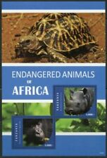 TANZANIA 2015 - Endangered Animals Of Africa Souvenir Sheet - MNH