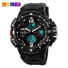 Fashion Digital Men's Sport Military Army LED Date Waterproof Quartz Wrist Watch