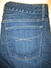 Gap Real Straight Stretch Womens Dark Blue Denim Jeans Size 12 A x 29  Mint