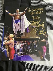 "Jerry ""The"" King Lawler Signed & Inscribed 8 X 10 W/COA - WWE NXT AEW NWA"