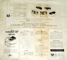 Russkit '22' Model Racing Motor Leaflet with Car Ad Vintage Slot Car Flyer NOS