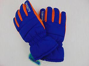 maniche lunghe con cordoncino mezzo invernali taglia M 6-8 anni caldi Toddler Kids Boy Girl Guanti da sci impermeabili da neve