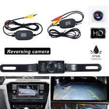 2.4G Wireless Car Reverse Rear View Backup Camera Kit Parking 7 IR Night Vision