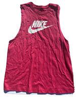 New Women's Nike Sportswear Essential Muscle Tank Top BV6173-605 Large Hot Pink