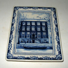 RARE Vintage Royal Delft Westraven Guesthouse Seven One Seven Wall Plaque