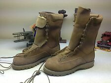 MADE IN USA MATTERHORN STEEL TOE BROWN LEATHER MILITARY ENGINEER BOOTS 7.5 M
