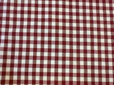 100% Cotton Gingham Curtain Weight Fabric By The Metre In Red