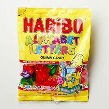 Haribo Gummi Alphabet Letters FOUR PACK 5oz Bags FREE SHIPPING