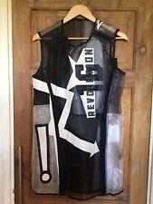 KOKON TO ZAI KTZ Organza Black Transparent Dress Leather Applique Size Small