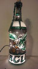 Philadelphia Eagles Inspired Wine Bottle Lamp Hand Painted Lighted