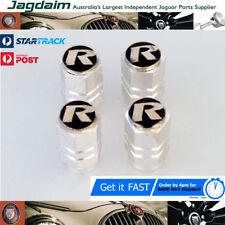 Jaguar 'R' tyre valve caps. Set of 4.