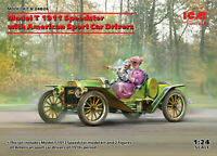ICM 1:24 scale model kit - Model T 1913 Speedster with Drivers ICM24026