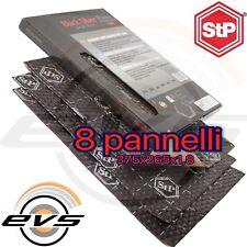 STP BLACK SILVER Pannelli Insonorizzante Antivibrante Auto 8 pz Fogli 375x265mm