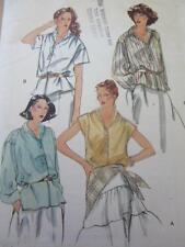 VINTAGE VOGUE SEWING PATTERN SZ 12 LADIES SLOUCH DROP SHOULDER BLOUSE SHIRT