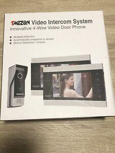 """TMEZON Video Door Phone Intercom System with 2x 7"""" LCD Monitor Security Doorbell"""