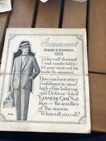 Spring And Summer 1925 Announcement For Dressing