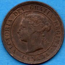 Canada 1888 1 Cent One Large Cent Coin - EF