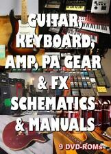 15% off! Guitar, Amp, Keyboard, PA Schematics & Manuals and more 9 DVD-ROMs