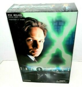 """SIDESHOW X-FILES FOX MULDER 12"""" SCI FI ACTION FIGURE NEW SEALED"""