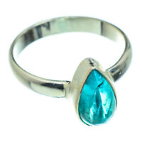 Blue Fluorite 925 Sterling Silver Ring Size 7.25 Ana Co Jewelry R47495F