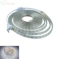 1m - 100m LED Bande Strip Ruban Guirlande 220V 230V AC IP65 Etanche blanc froid