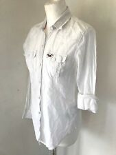 HOLLISTER Ladies White Thin Summer Shirt Size XS