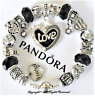 """Authentic Pandora Bracelet Silver with """"LOVE STORY"""" Black with European Charms"""