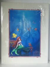 WILLIAM SILVERS DREAM SONG ARIEL DISNEY 18X14 Matted Print Signed New