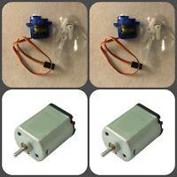 2pcs SG90 Micro Servo Motor and 2pcs DC motor (1V-3V) for Arduino, Raspberry Pi