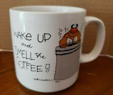 Wake up and Smell the Coffee Mug Schneider Russ Berrie Vtg funny
