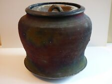 JOHN BEDDING RAKU LIDDED JAR