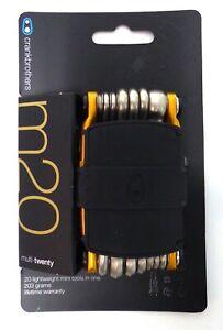 Crankbrothers M20 Bicycle Multi-Tool Gold with Tubeless Repair Kit