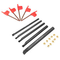 5pc Boring Bar Tunring Tool Holder+10pc CCMT060204 Carbide Inserts+5x Wrench