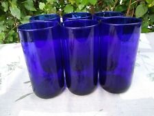 LIBBEY COBALT BLUE METROPOLITAN COOLER GLASSES SET OF 6 HIGHBALL TALL TUMBLERS