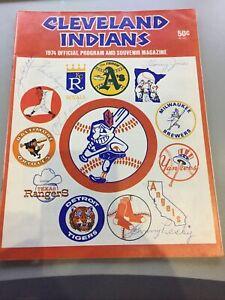 1974  Cleveland Indians Official Program And Souvenir Mag.Signed RARE Autographs