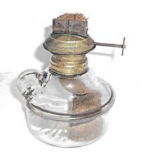 Antique Wall Bracket Base Finger Oil Lamp Wide Eagle Burner Sunburst #9 Pressed