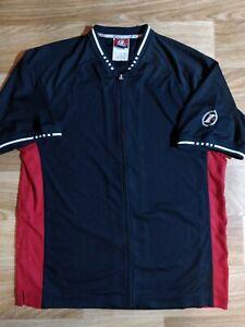 Reebok I3 Allen Iverson Limited Basketball Jersey Track Zip Shirt NBA Red Black