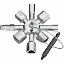 KNIPEX TwinKey Universal Schaltschrank Schlüssel Dreikant Vierkant