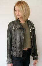 Manuel Luciano Lambskin Jewels, Metal Leather Jacket Small UK 8  RRP£1500 biker