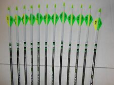 Easton Axis 400 5mm Hunting Carbon Arrows! Crested/Dipped Bohning Blazer Vanes